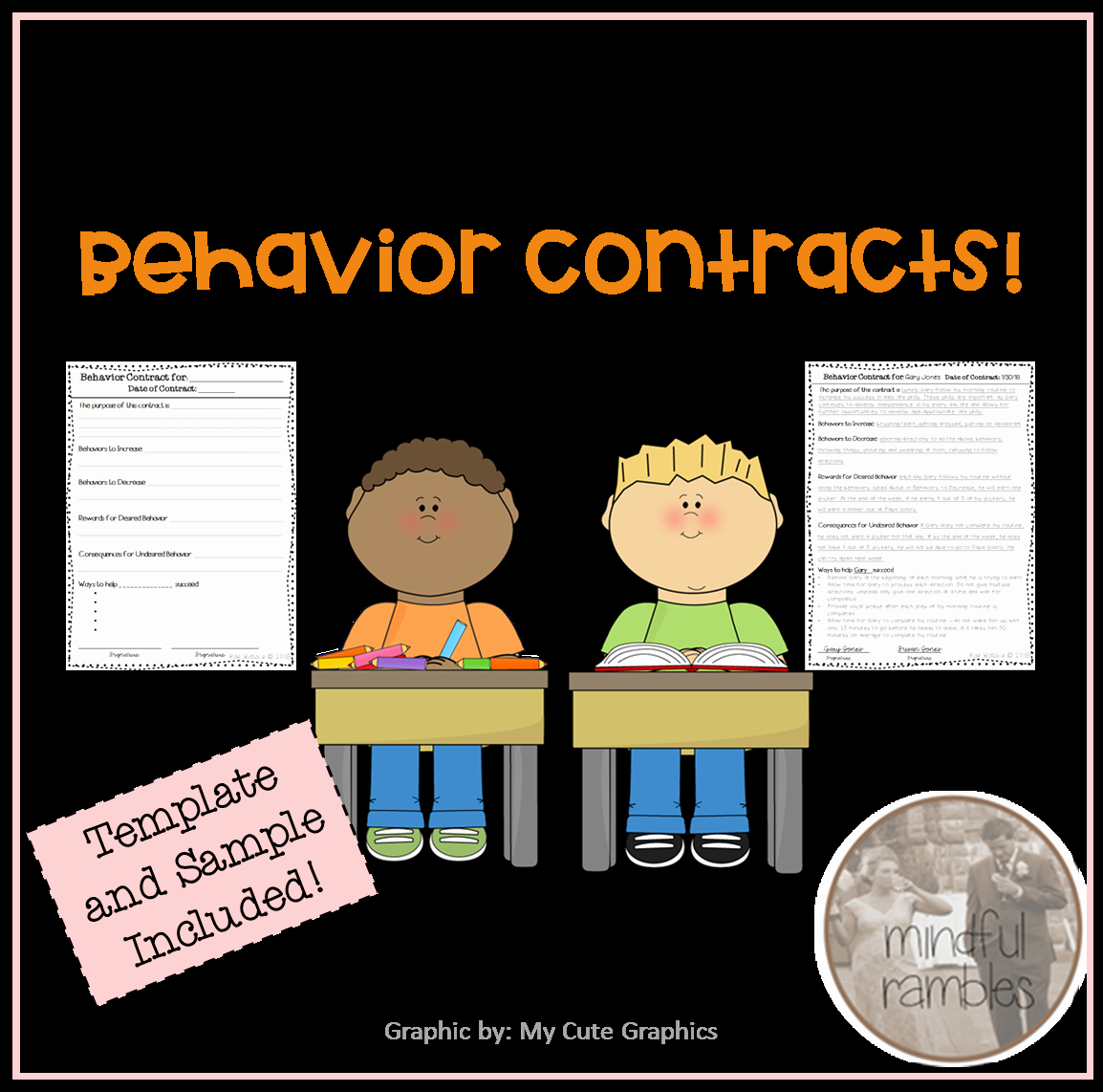 Contingency Contract Aba Elegant All About Behavior Contracts A Freebie Mindful Rambles