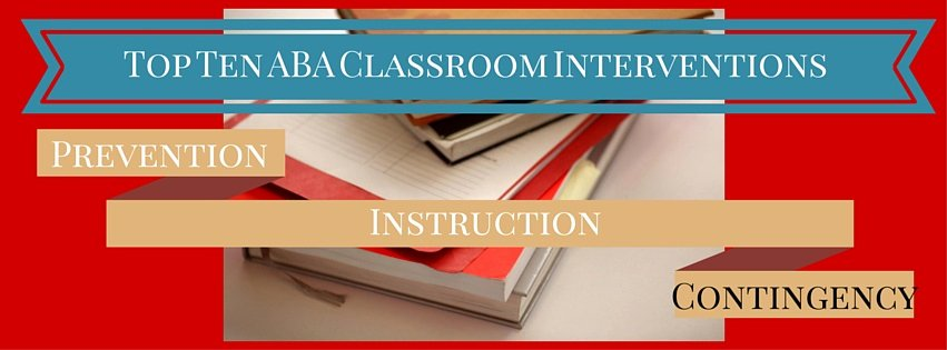 Contingency Contract Aba Elegant top Aba Contingency Interventions for the Classroom