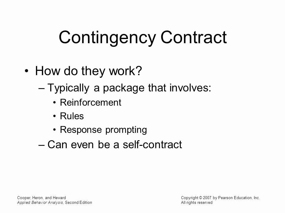Contingency Contract Aba Fresh Chapter 26 Contingency Contracting token Economy and
