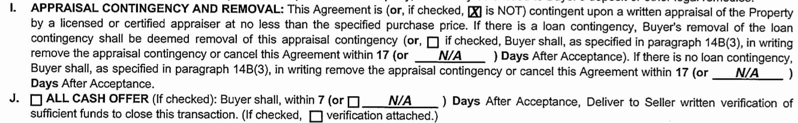 Contingency Contract Example Awesome why Waiving Appraisal Contingencies Strengthen Fers