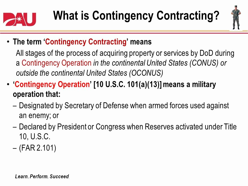 Contingency Contract Example Best Of Chapter 2 Contracting Authorities and Structure Ppt