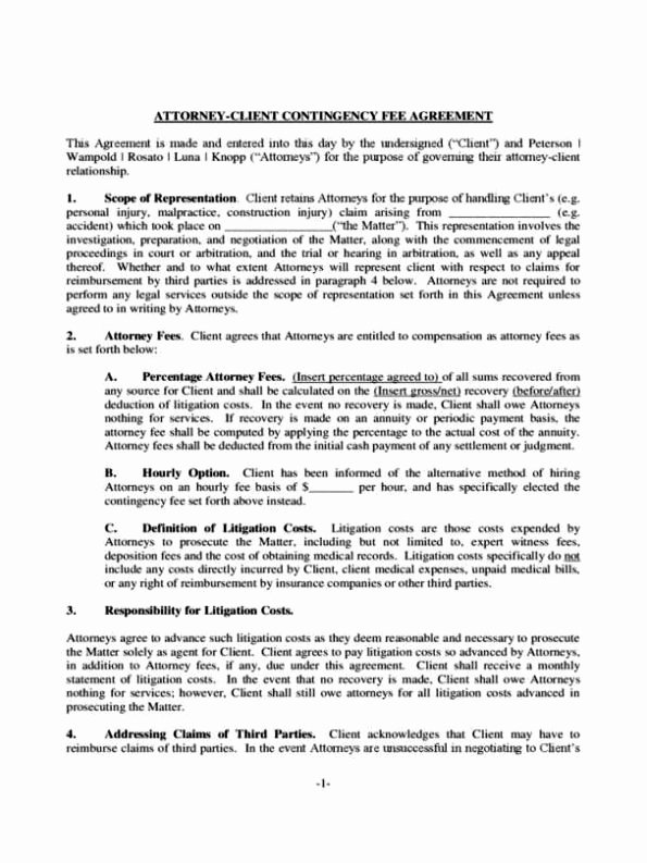 Contingency Contract Example Lovely Contingency Agreement Template Sampletemplatess