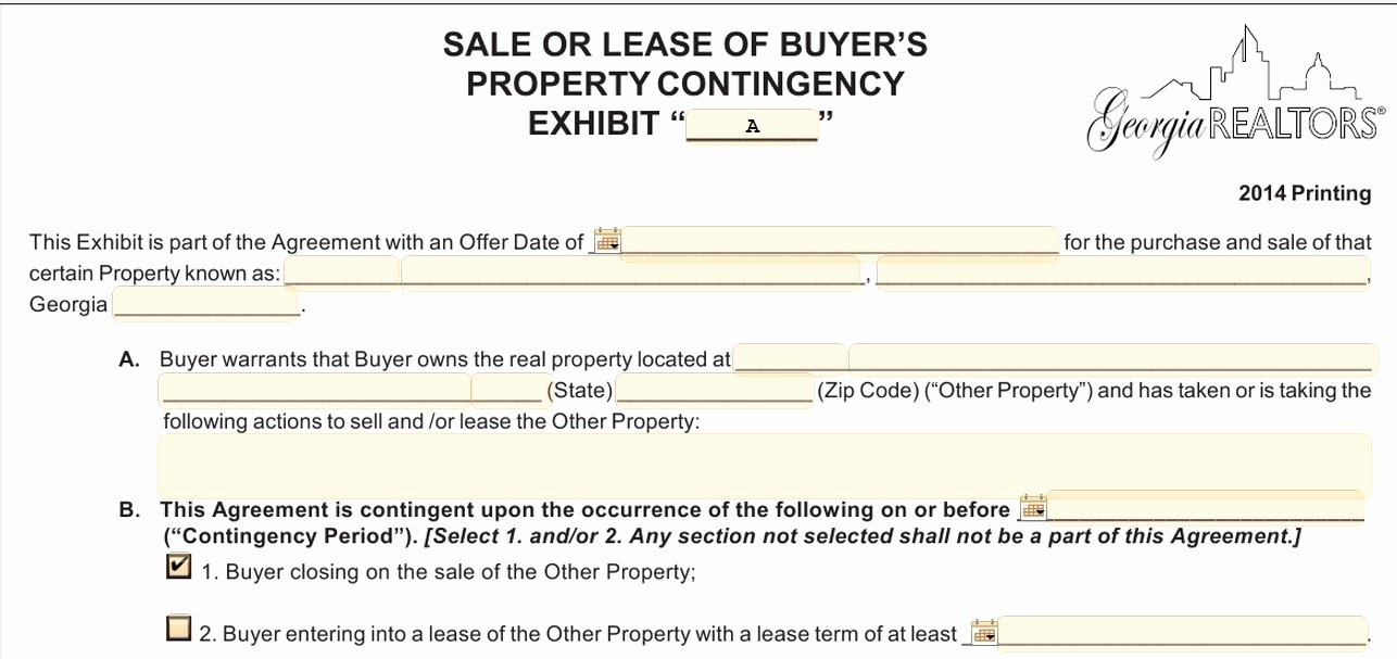 Contingency Contract Examples Awesome What is A Kick Out In A Georgia Real Estate Contract