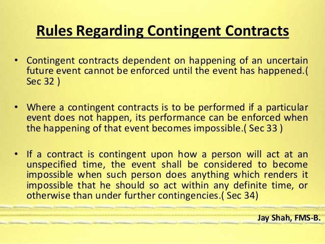 Contingency Contract Examples Beautiful Wagering & Contingent Contracts