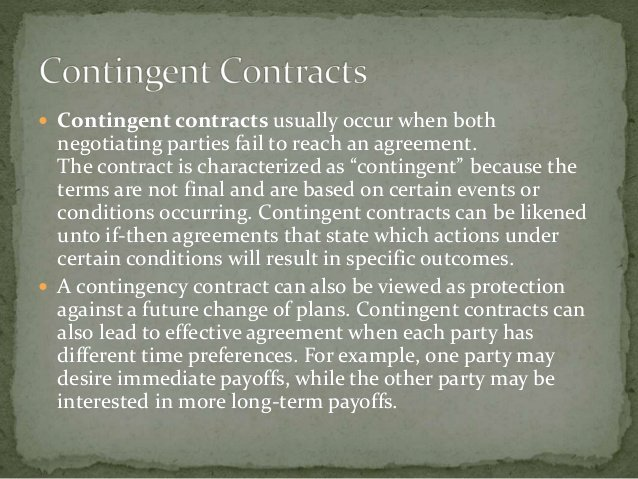 Contingency Contract Examples Inspirational Quasi Contracts & Contingent Contracts
