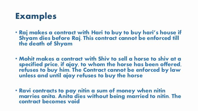 Contingency Contract Examples Lovely Contingent Contract