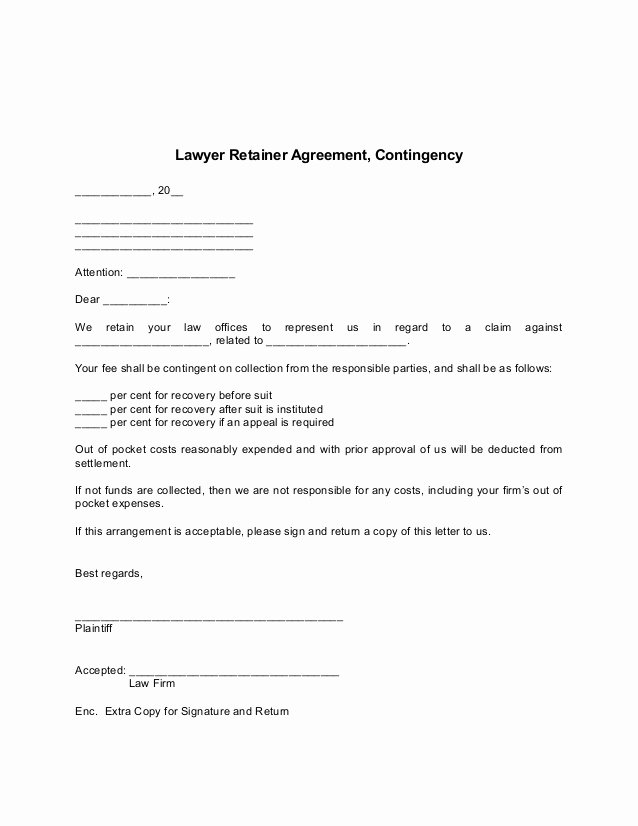 Contingency Contract Examples Luxury Consulting Retainer Agreement Sample Templates Resume