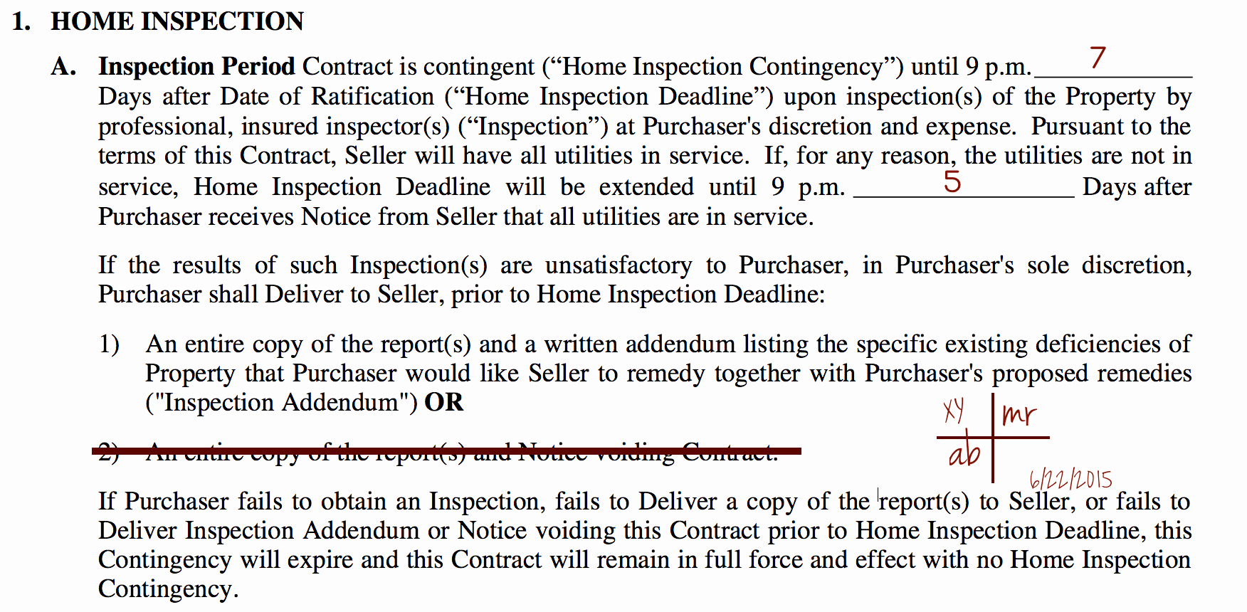 Contingency Contracting Example Awesome Making the Nvar Contract as is with A Home Inspection