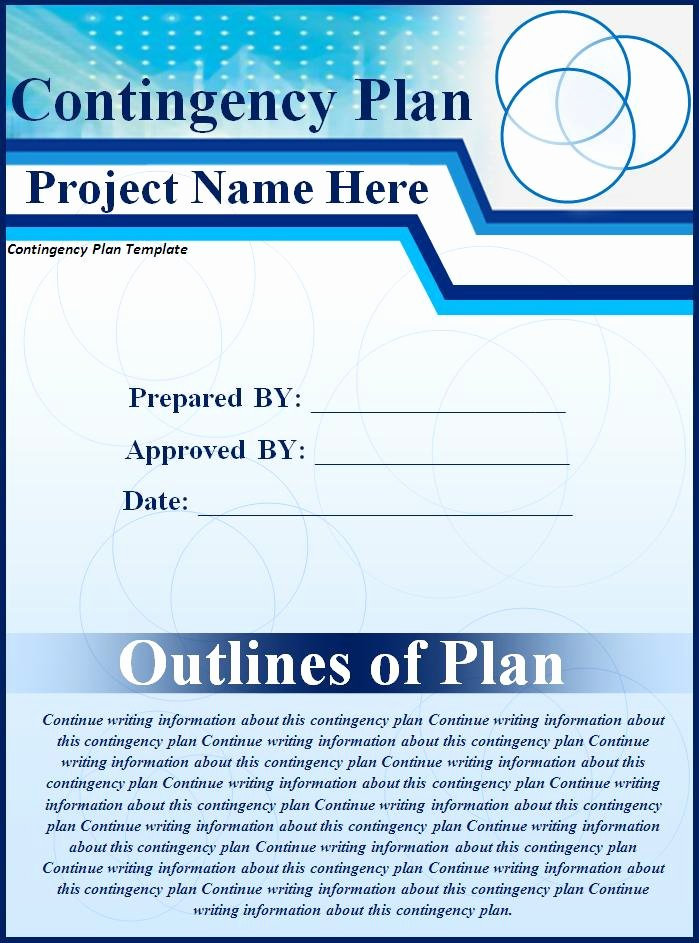 Contingency Contracting Example Beautiful Contingency Plan Sample