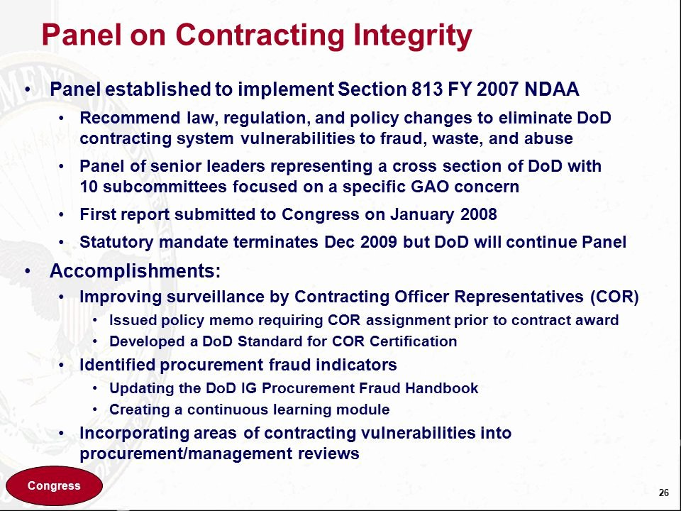 Contingency Contracting Example Elegant Osd View Of Contingency Contracting Ppt