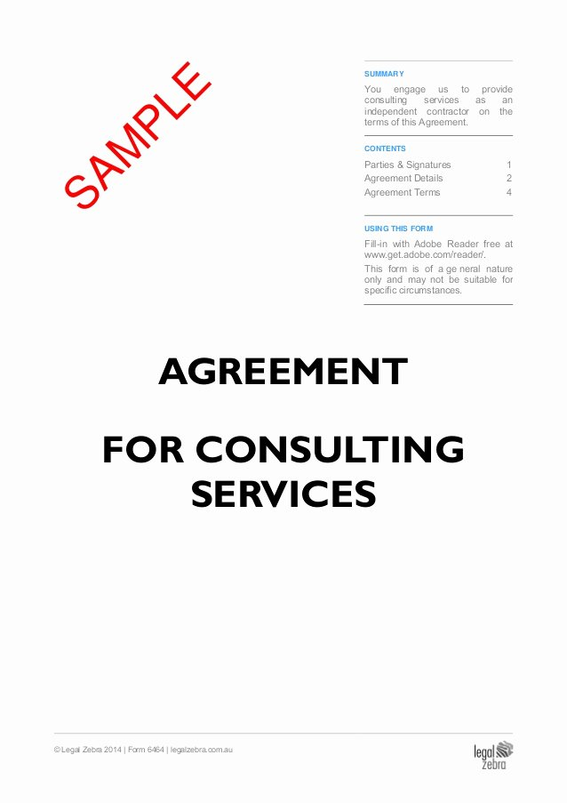 Contract Summary Template Awesome Independent Contractor Agreement Agreement for