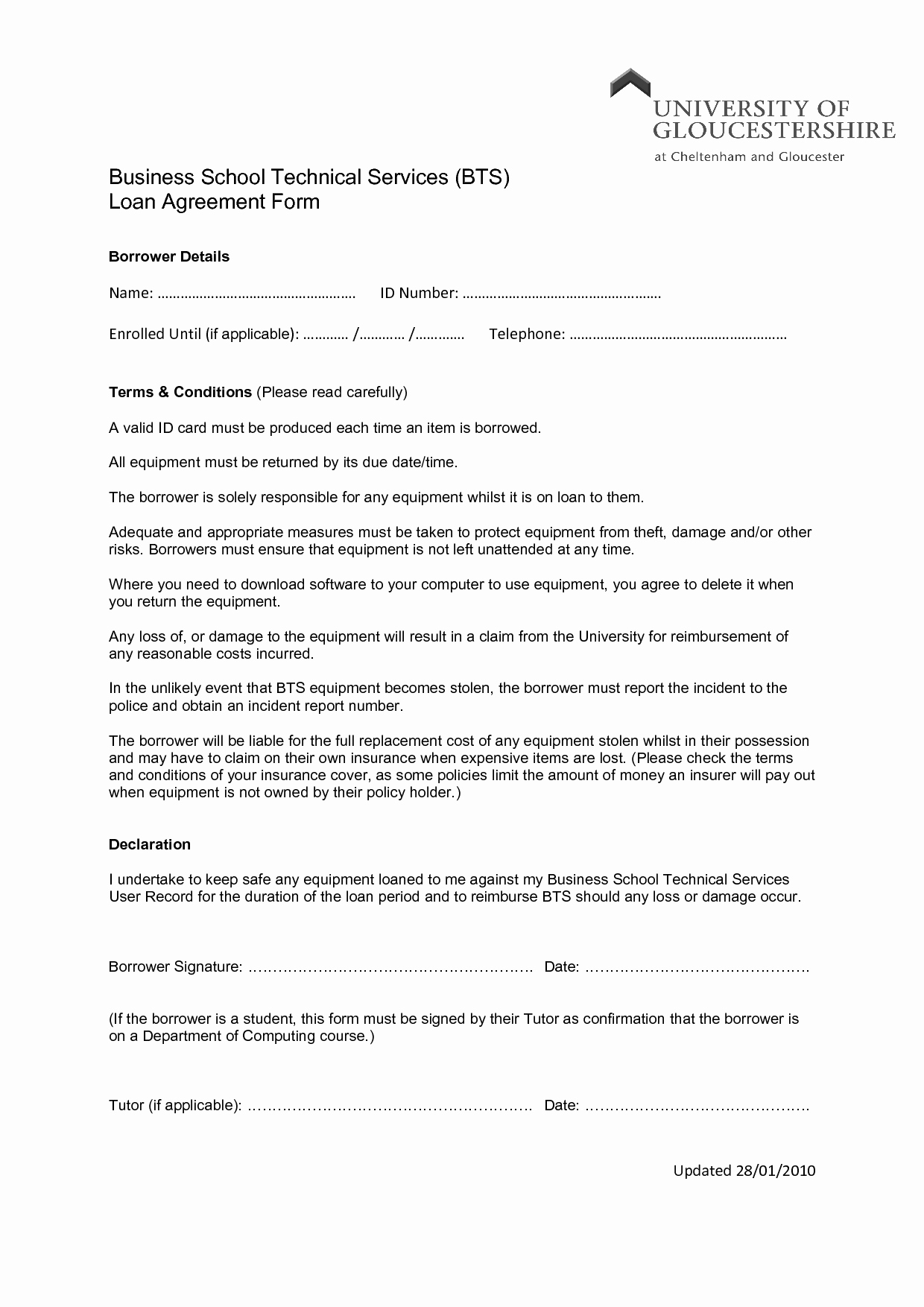Contract Summary Template Awesome Printable Sample Loan Agreement form form