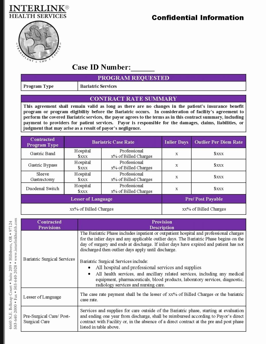 Contract Summary Template Best Of Interlink Health Contract Overview Sample