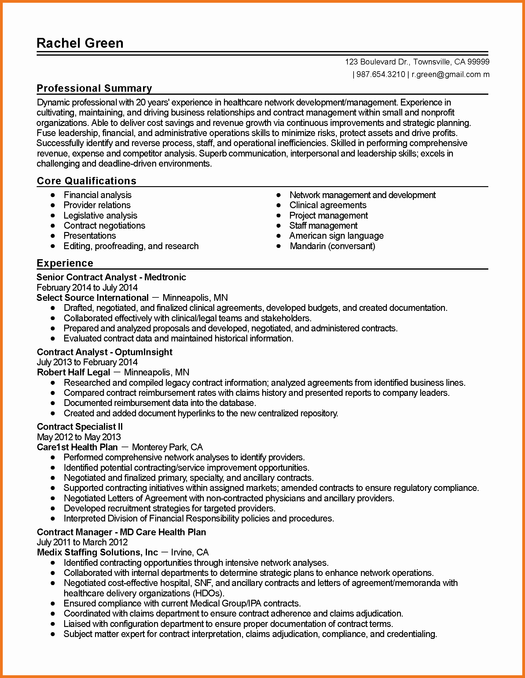 Contract Summary Template Inspirational 0 1 Contract Summary Template