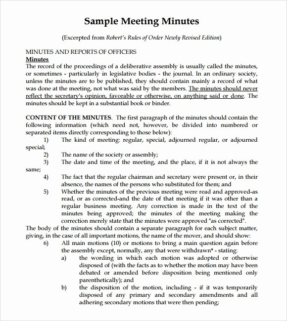 Contract Summary Template Lovely Sample Meeting Summary Template 7 Documents In Pdf
