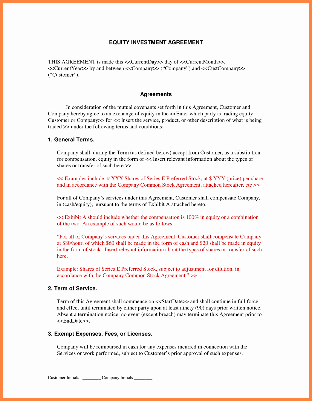 Contract Summary Template Unique Business Investment Contract Mughals