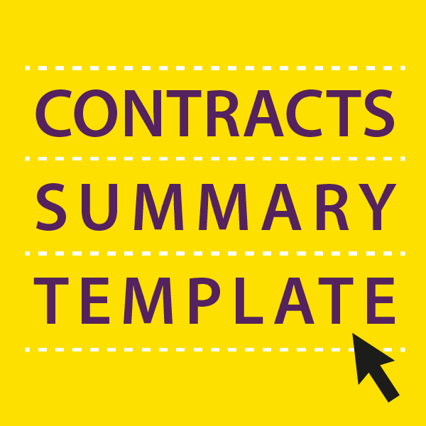Contract Summary Template Unique Contracts Summary Template Sell Your Business