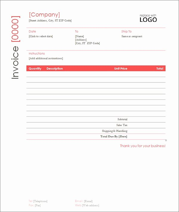 Contractor Invoice Template Excel Beautiful 9 Contractor Invoice Templates Word Excel Pdf formats