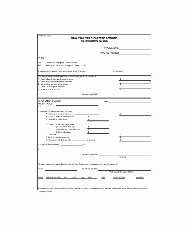 Contractor Invoice Template Excel Best Of 10 Contractor Invoice Samples Pdf Word Excel