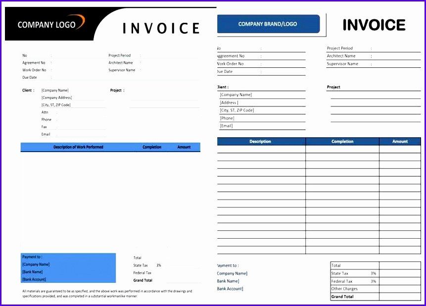Contractor Invoice Template Excel Luxury 5 Invoice Template Excel Exceltemplates Exceltemplates