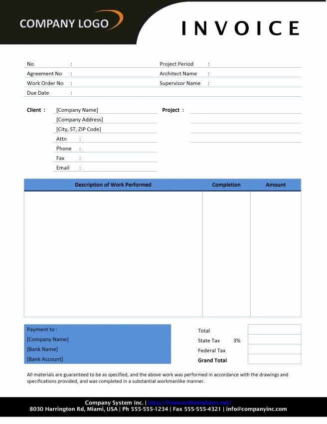 Contractor Invoice Template Excel Luxury Contractor Invoice Template Excel