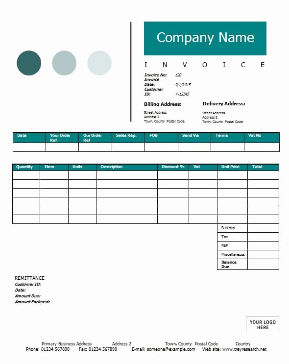 Contractor Invoice Template Excel New Contractor Invoice Template Printable Word Excel