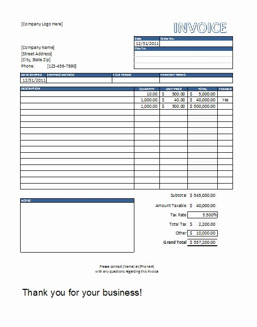 Contractor Invoice Template Excel New Excel In Life Templates Included Free Invoice Template