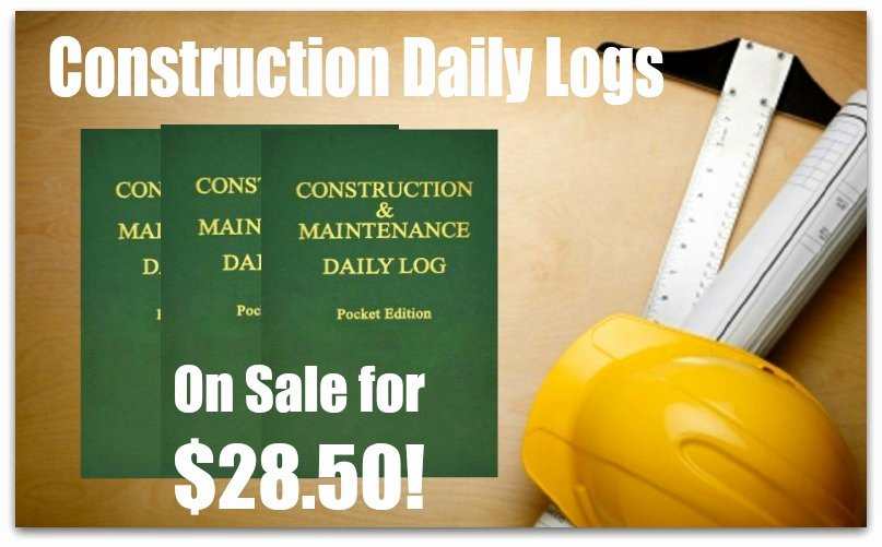 Contractors Daily Log Book Lovely Construction Daily Logs On Sale