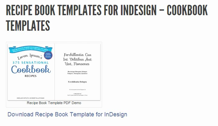 Cookbook Template Pages Best Of 5 Indesign Cookbook Template