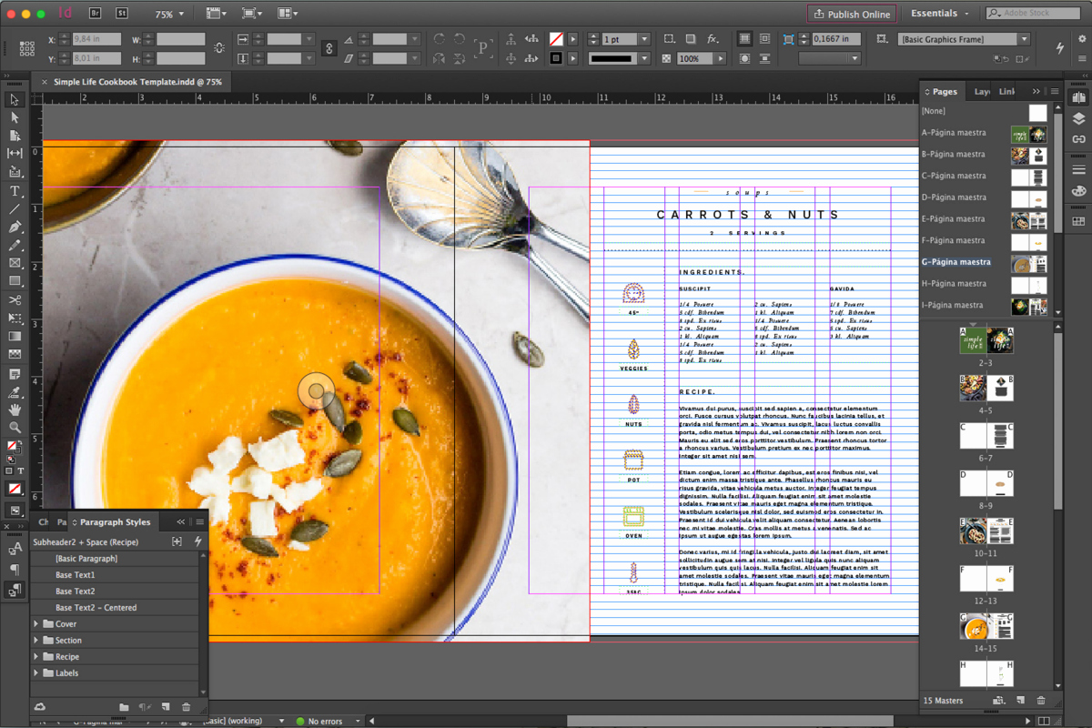 Cookbook Template Pages Best Of Simple Life Free Cookbook Template for Indesign • Pagephilia