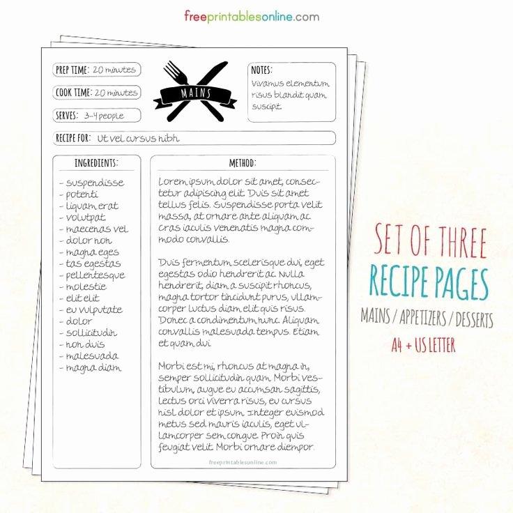 Cookbook Template Pages Elegant Best 25 Recipe Templates Ideas On Pinterest