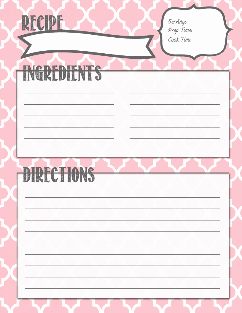 Cookbook Template Pages Inspirational Melanie Gets Married Recipe Binder Printables