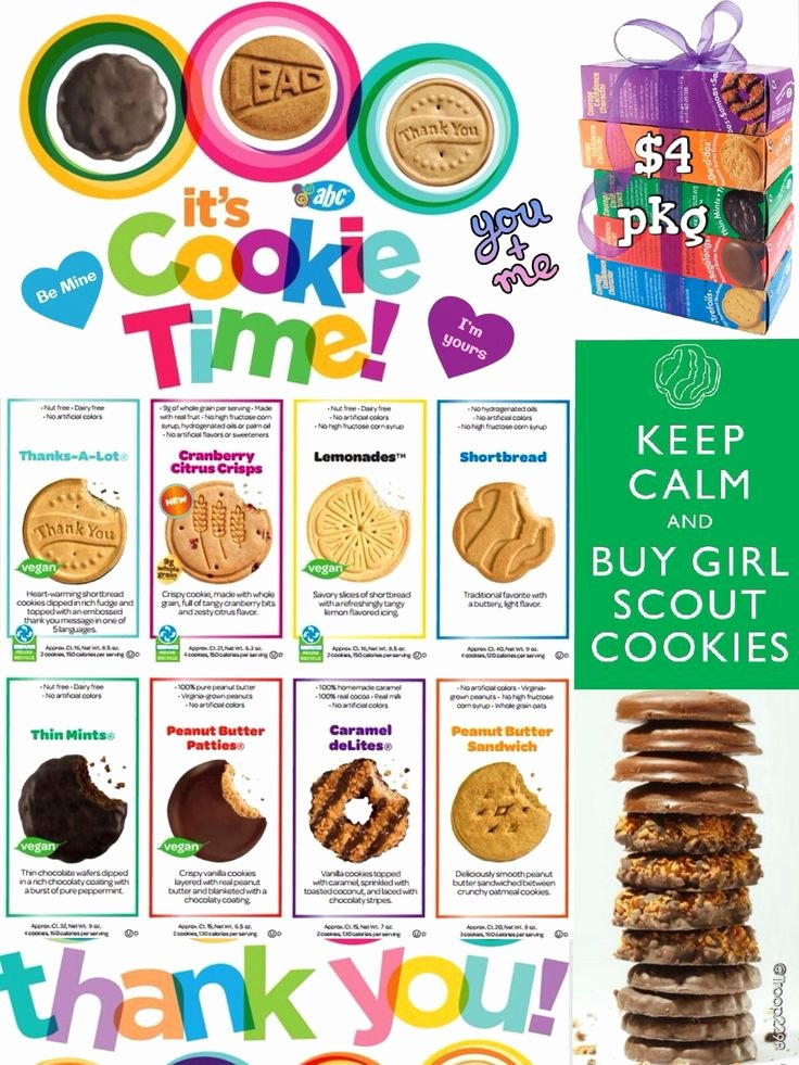 Cookie order form Template Awesome 2014 Girl Scout Line Cookie order form I Made This for