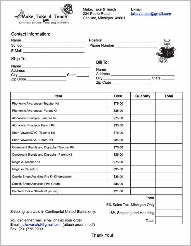 Cookie order form Template Best Of Printed First Grade Cookie Sheet Bundle Make Take & Teach