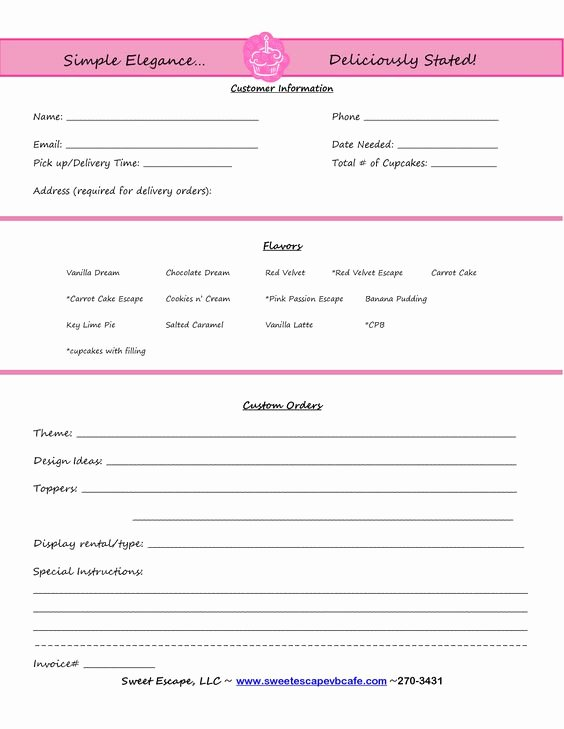 Cookie order form Template Elegant Pinterest • the World's Catalog Of Ideas