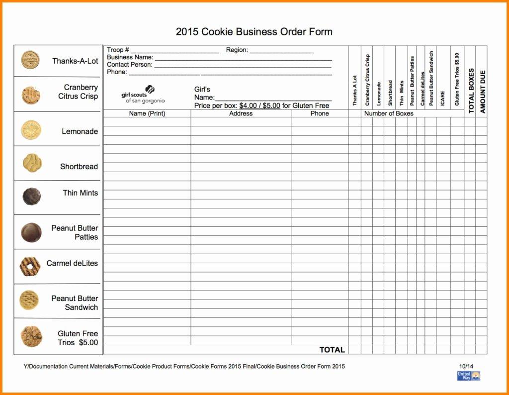 Cookie order form Template Lovely orangewafer Design