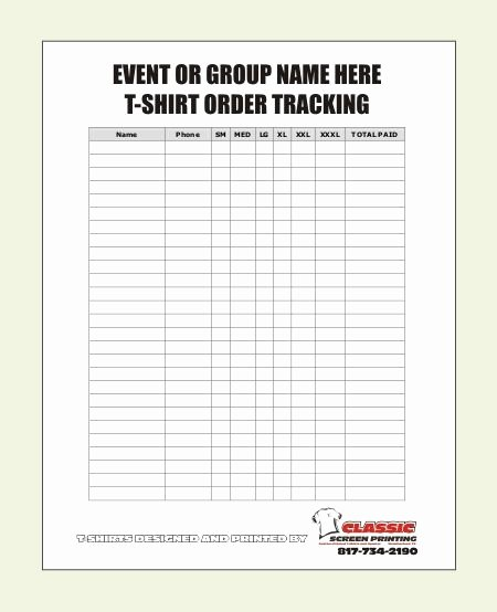Cookie order form Template Unique Blank T Shirt order form Template …