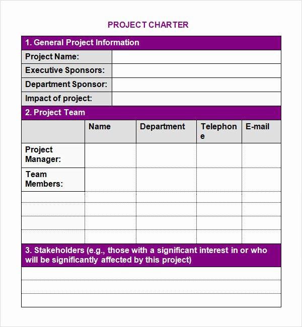 Corporate Charter Template Lovely Project Charter 7 Free Pdf Doc Download