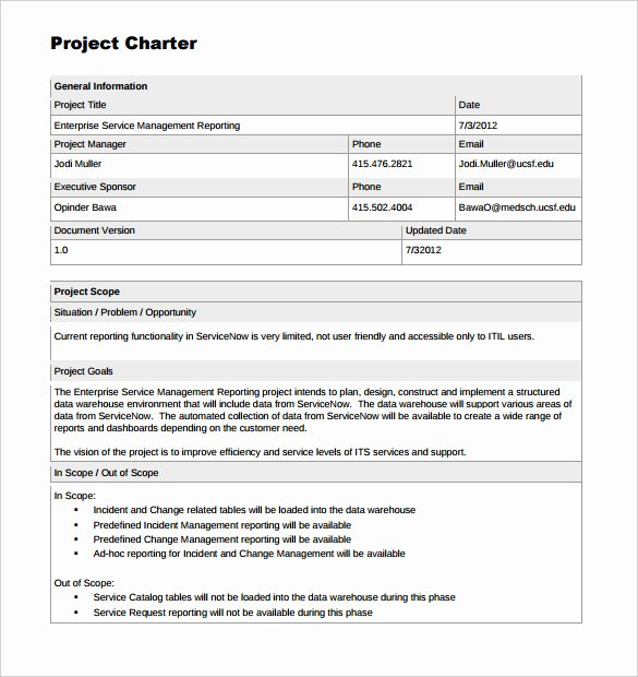 Corporate Charter Template Luxury 17 Project Template Doc Pdf Ppt