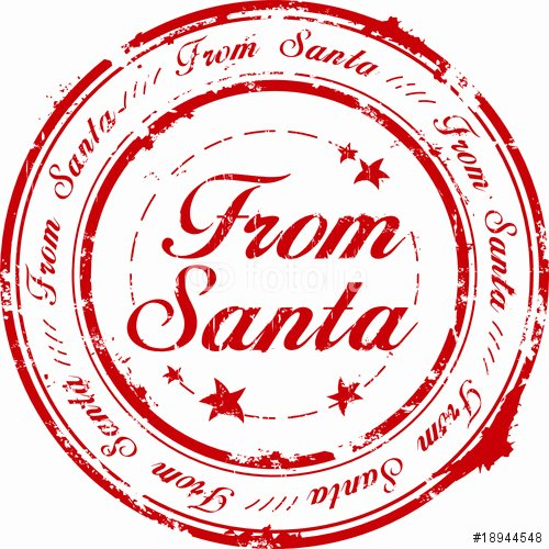 "Corporate Seal Template Word Lovely ""from Santa Stamp"" Stock Image and Royalty Free Vector"