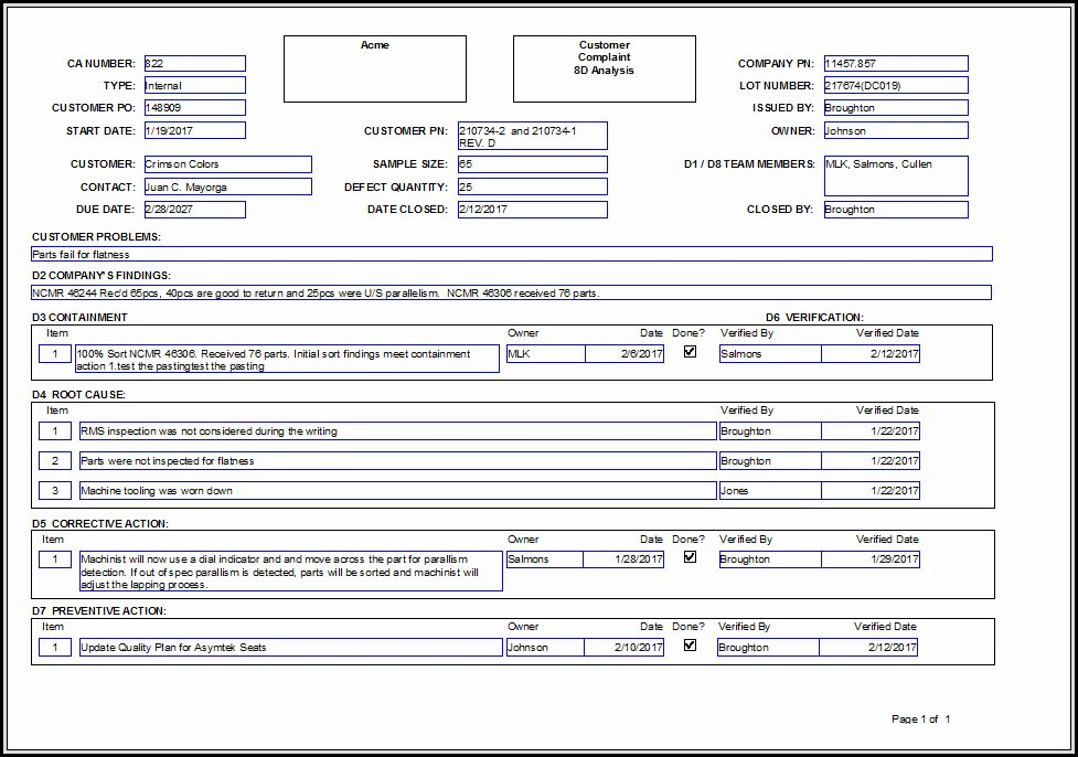 Corrective Action Preventive Action Template Beautiful Corrective Action form and Choosing the Right Method