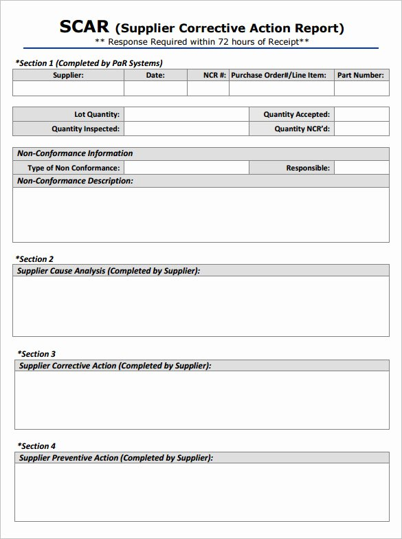 Corrective Action Preventive Action Template Best Of Corrective Action Template – Free Download