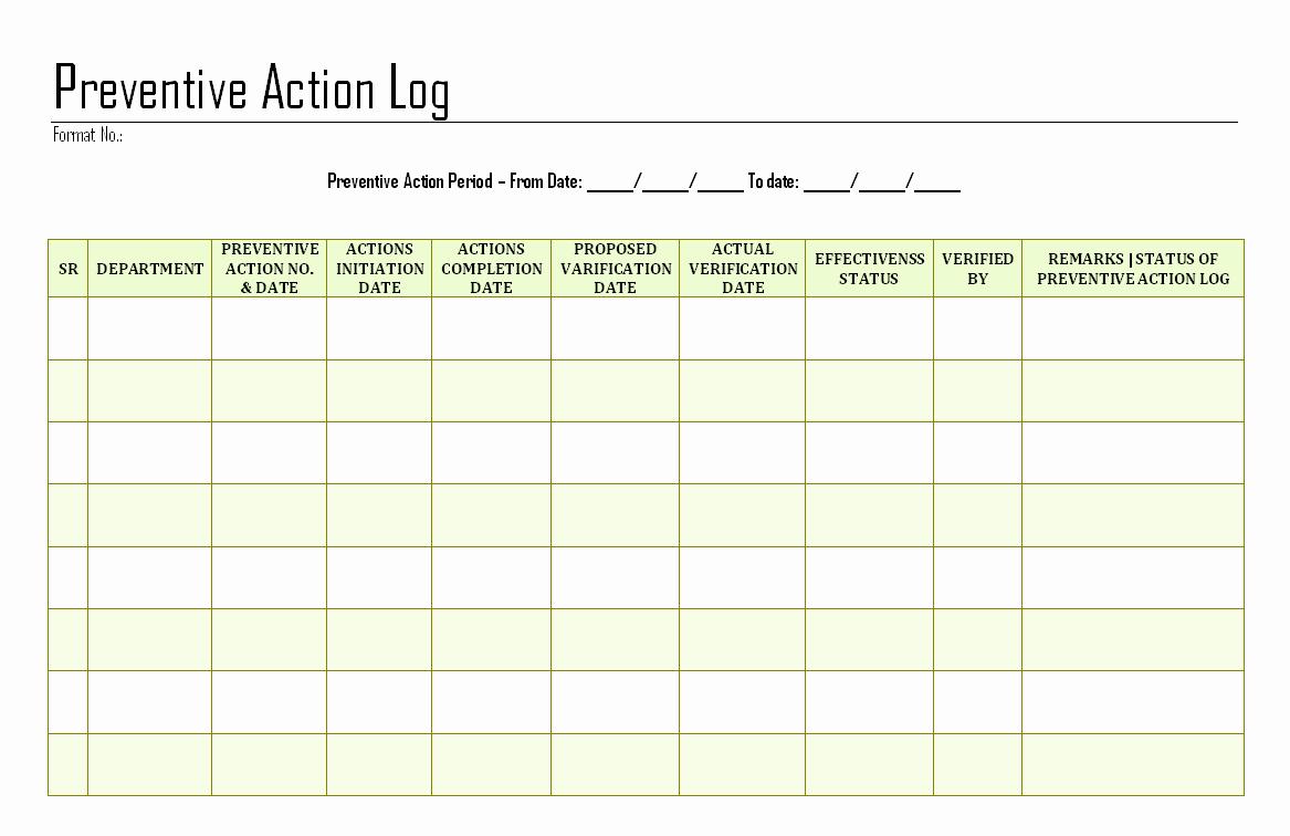 Corrective Action Preventive Action Template Fresh Download Easy Free Download Excel Ke Pdf