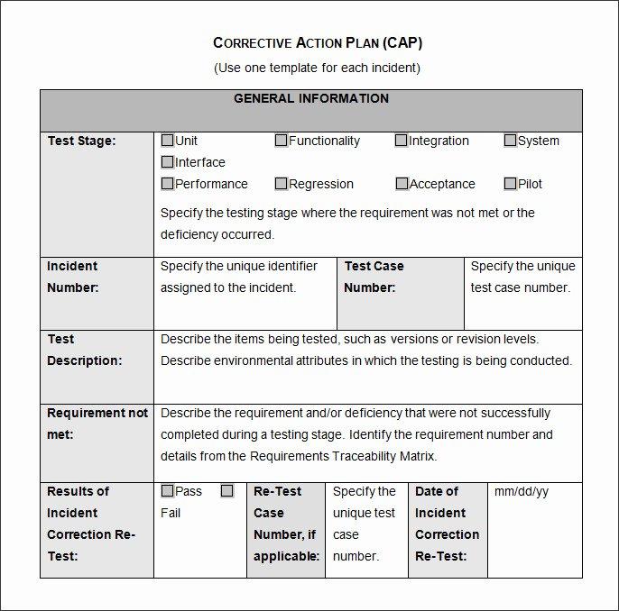 Corrective Action Preventive Action Template Lovely Corrective Action Plan Template 22 Free Word Excel