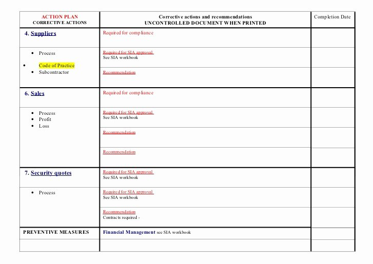 Corrective Action Preventive Action Template Luxury Re Mendations 2008 Blank form