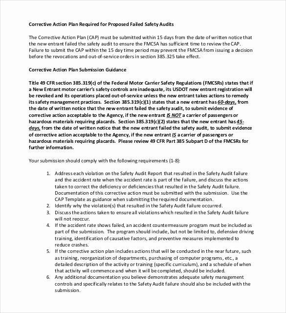 Corrective Action Preventive Action Template New Corrective Action Plan Template 23 Free Word Excel Pdf