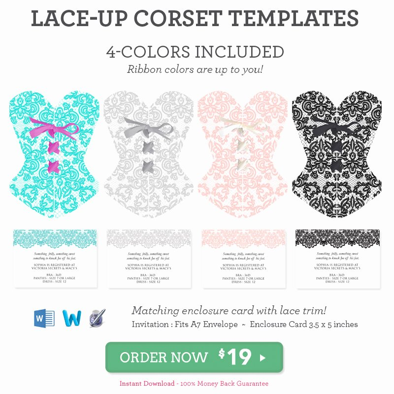 Corset Invitation Template Free Awesome Diy Lace Up Corset Invitation