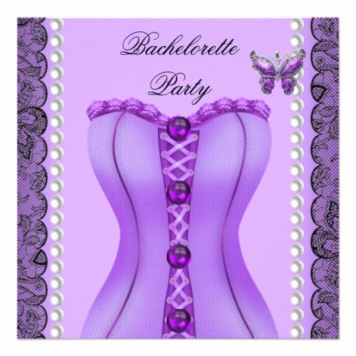 Corset Invitation Template Free Inspirational Bachelorette Party Purple Lilac Corset butterfly 5 25