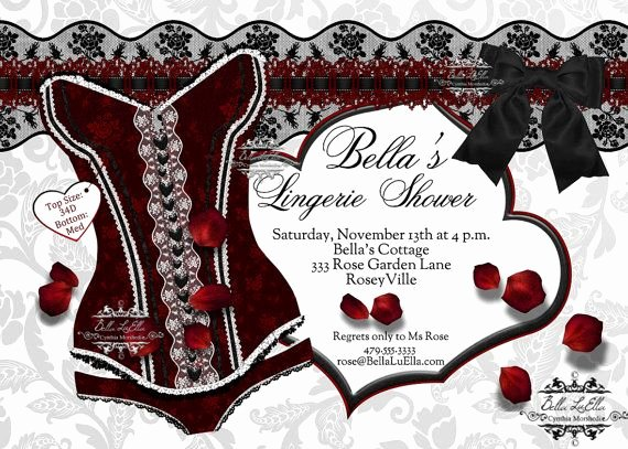 Corset Invitation Template Free Luxury Lingerie Shower Invitation Bachelorette Party Bridal