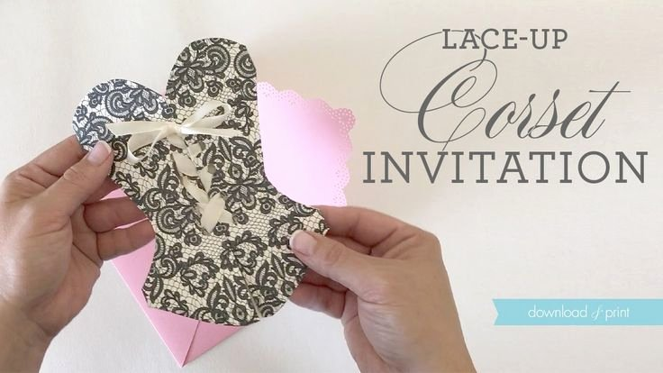 Corset Invitation Template Free New 25 Best Ideas About Corset Invitations On Pinterest